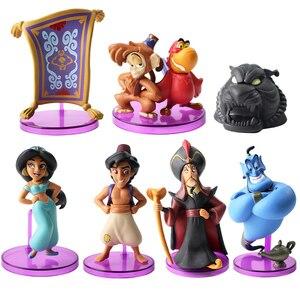 Image 5 - נסיכי sjasmine דמות צעצוע Evil קוף נמר אלאדין שלו מנורת PVC פעולה איור דגם צעצוע בובות