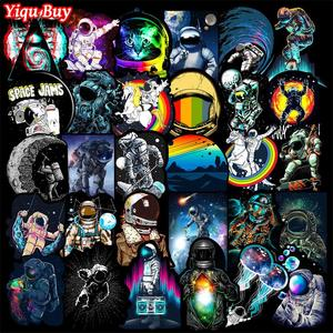 50 Pcs Outer Space Stickers for Laptop Car Motorcycle Skateboard Fridge Luggage Backpack Phone Bike Decal Cool Creative Stickers(China)