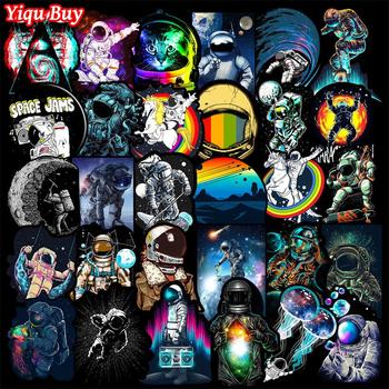 50 Pcs Outer Space Stickers for Laptop Car Motorcycle Skateboard Fridge Luggage Backpack Phone Bike Decal Cool Creative - discount item  33% OFF Classic Toys