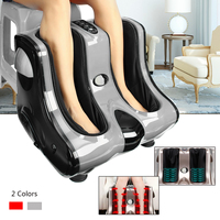 220V 3 Modes Detachable Fabric Shiatsu Foot Calf Leg Ankle Massager Heating Kneading Rolling Vibration Machine All dimensional