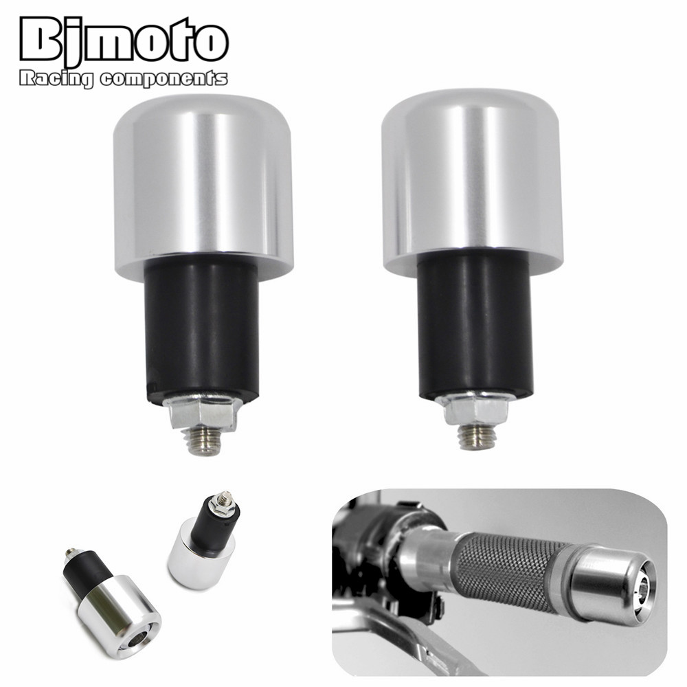 BJMOTO Motorcycle Anti Vibration Balance Handle Bar End Plug Grip Ends Caps For 22mm Handlebar With 18mm Inner Hole