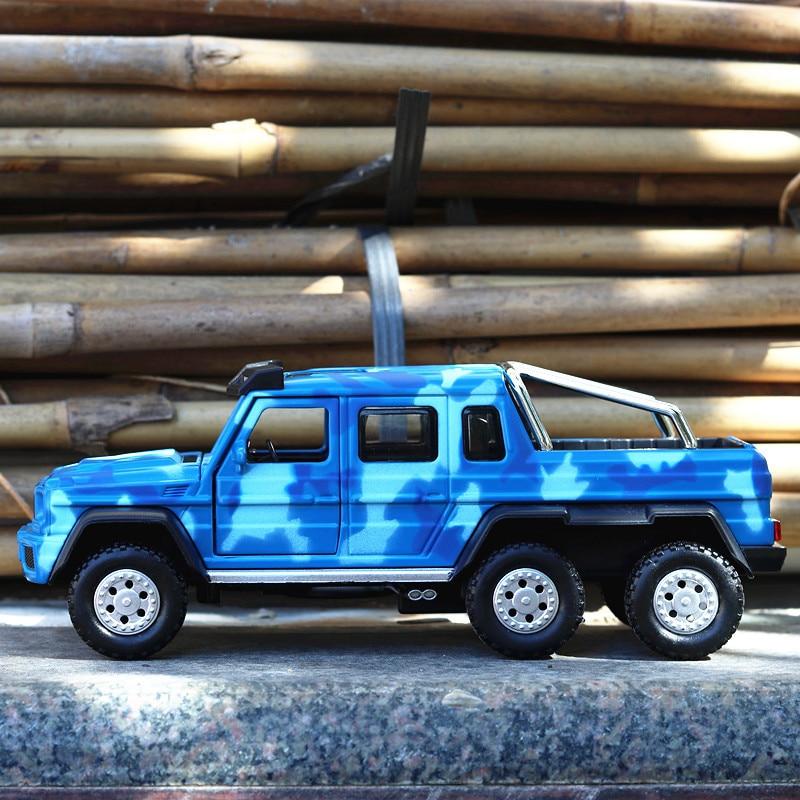 Pour mercedes-benz G63 AMG pour Babs 6X6 bête Buggy alliage voiture modèle ornements voyage Boutique Speelgoed Auto Mobile enfants jouets garçon