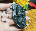 Real Natural HeTian Jade Pendants Top Grade A Green Jade Nephrite Carved Kwan-Yin Lucky Pendant + free rope Fashion Jewelry