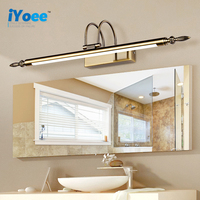 Classical Led Black Bathroom Vanity mirror Wall Lamp Bronze/Silver Bedroom Wall Lights Fixtures Living Room Wall Sconce Lights