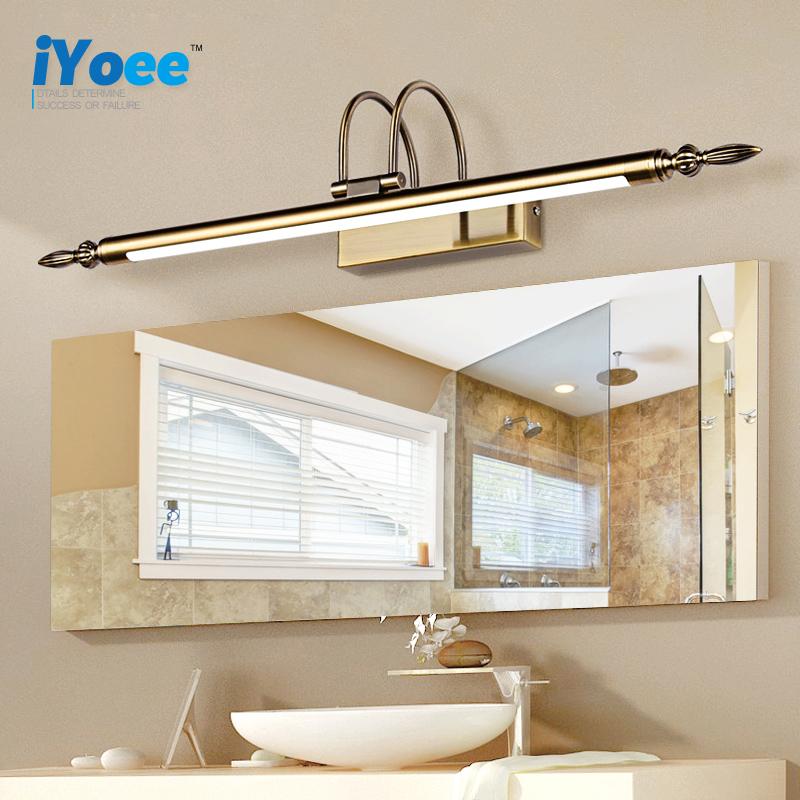 modern cm lmpara impermeable retro bronce gabinete espejo del bao espejo de vanidad luces led