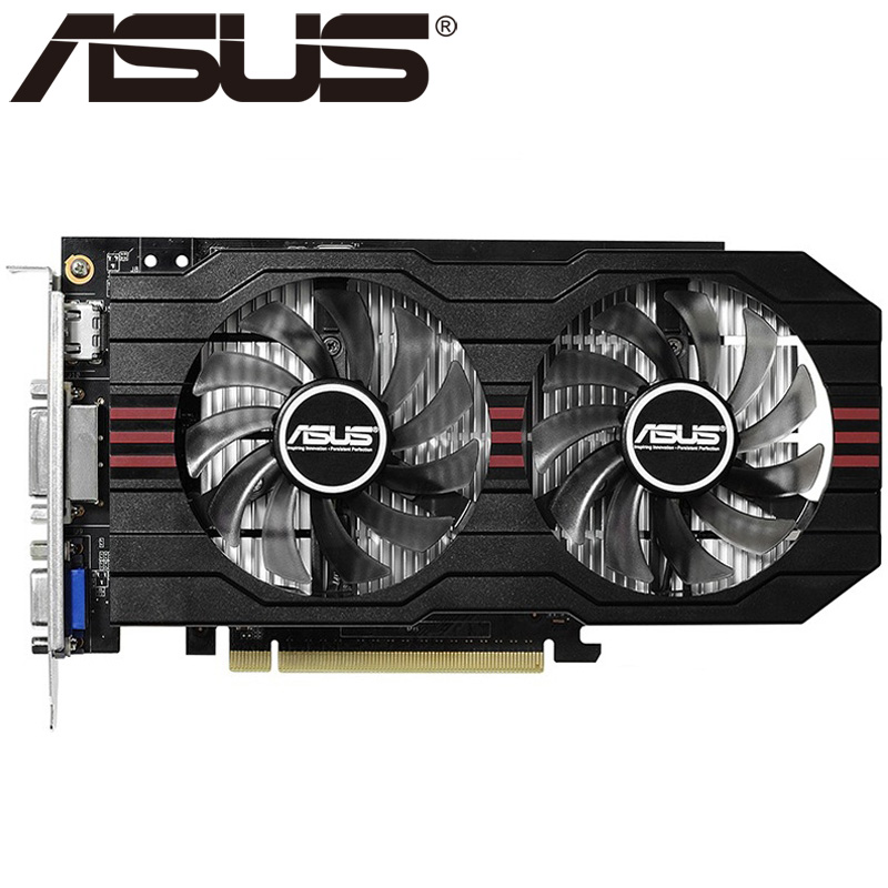 ASUS Video Graphics Card Original GTX 750 2GB 128Bit GDDR5 Video Cards for nVIDIA VGA Cards Geforce GTX750 Hdmi Dvi Used On Sale original gpu veineda graphics cards hd6450 2gb ddr3 hdmi graphic video card pci express for ati radeon gaming