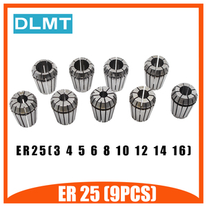 ER25 Пружинные зажимы 9 шт. MT3 ER25 M12 1 шт. ER25 гаечный ключ 1 шт. цанговый патрон конус держателя Морзе для фрезерного станка с ЧПУ