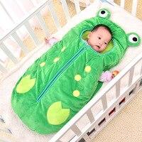 Newborn Frog Sleeping Bag Winter Baby Stroller Sleep Sack Sacos De Dormir Bebes Cute Baby Sleeping Bag Baby Envelopes