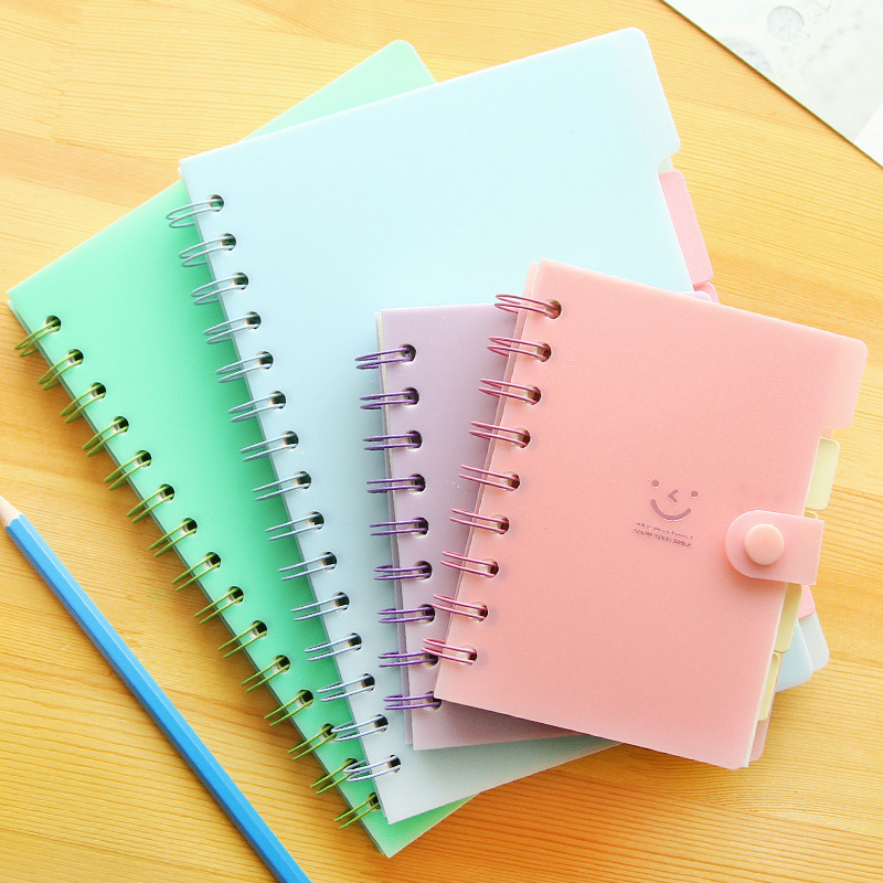 Kawaii New Spiral Notebook Notepad Color PVC Cover ...