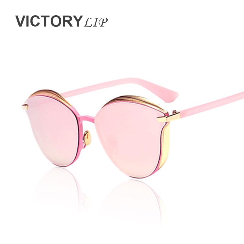 VictoryLip New 2016 Vintage Style Cat eye Marque Designer Petite Taille  Italie lunettes de Soleil femmes Miroir UV400 lunettes de Soleil Lady  Lunettes dans ... c4eedee6df8f
