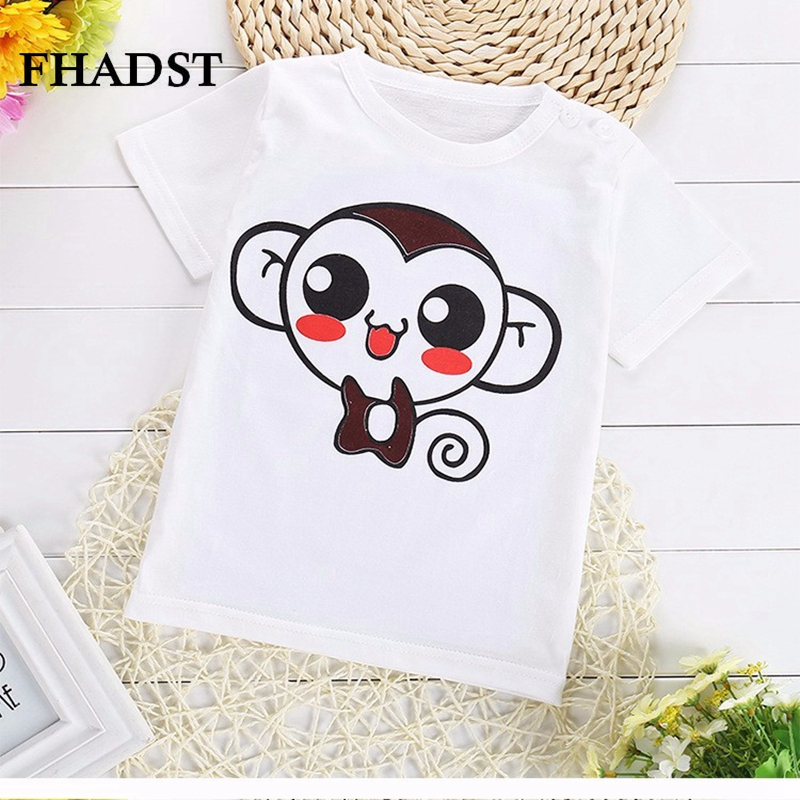 FHDAST 2017 Children T Shirts Character Summer New Boys Kids T-Shirt Teen Clothing For Girls Character Baby Clothing T-Shirts
