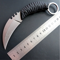 karambit CS GO tactical knife D2 blade G10 steel C1960 claw camping hunting fixed knives Strike Claw Knife with Sheath EDC Tool
