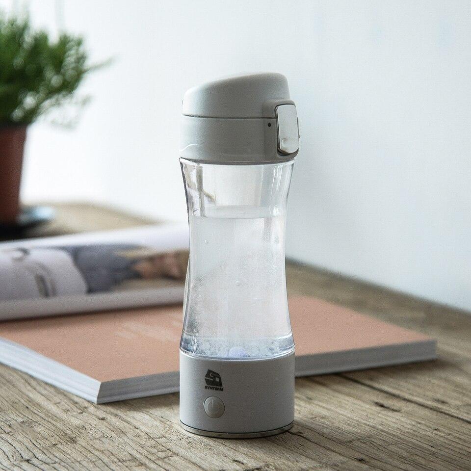 Healthy Hydrogen Water Bottle Anti-Aging Rich Hydrogen Water Generator Hydrogen Water Maker 350ml Water Ionizer BPA-free SYNTEAM