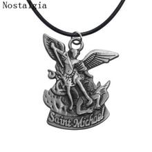bda4328fdd1 New Bible Angel Saint Michael Pendant Pray For Us Pendants & Necklaces 3D Archangel  Angel Wings