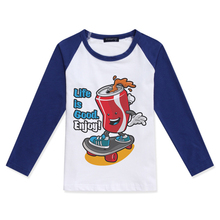 2019 New Arrival Baby Boy T Shirt Cotton O-Neck Fashion Tees Creative Skateboard Print Girls Raglan Long Sleeve Top Boys T-Shirt cotton baby t shirt long sleeve t shirts for babies cartoon o neck top baby boy first birthday outfit boy shirt clothes tees