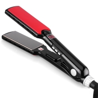 2017 New Professional Hair Straightener Wide Plate Titanium With 1 1 2 Inch Flat Iron For
