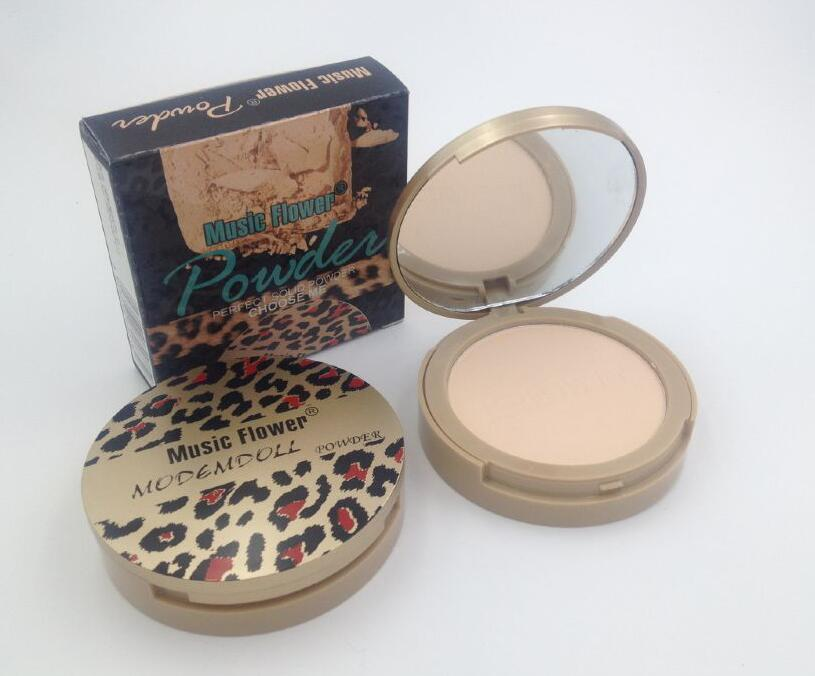 Music Flower Mineral Pressed Powder Concealer Cream Face Base Foundation Makeup Smooth Oil Control Contour Palette Cosmetics 10g