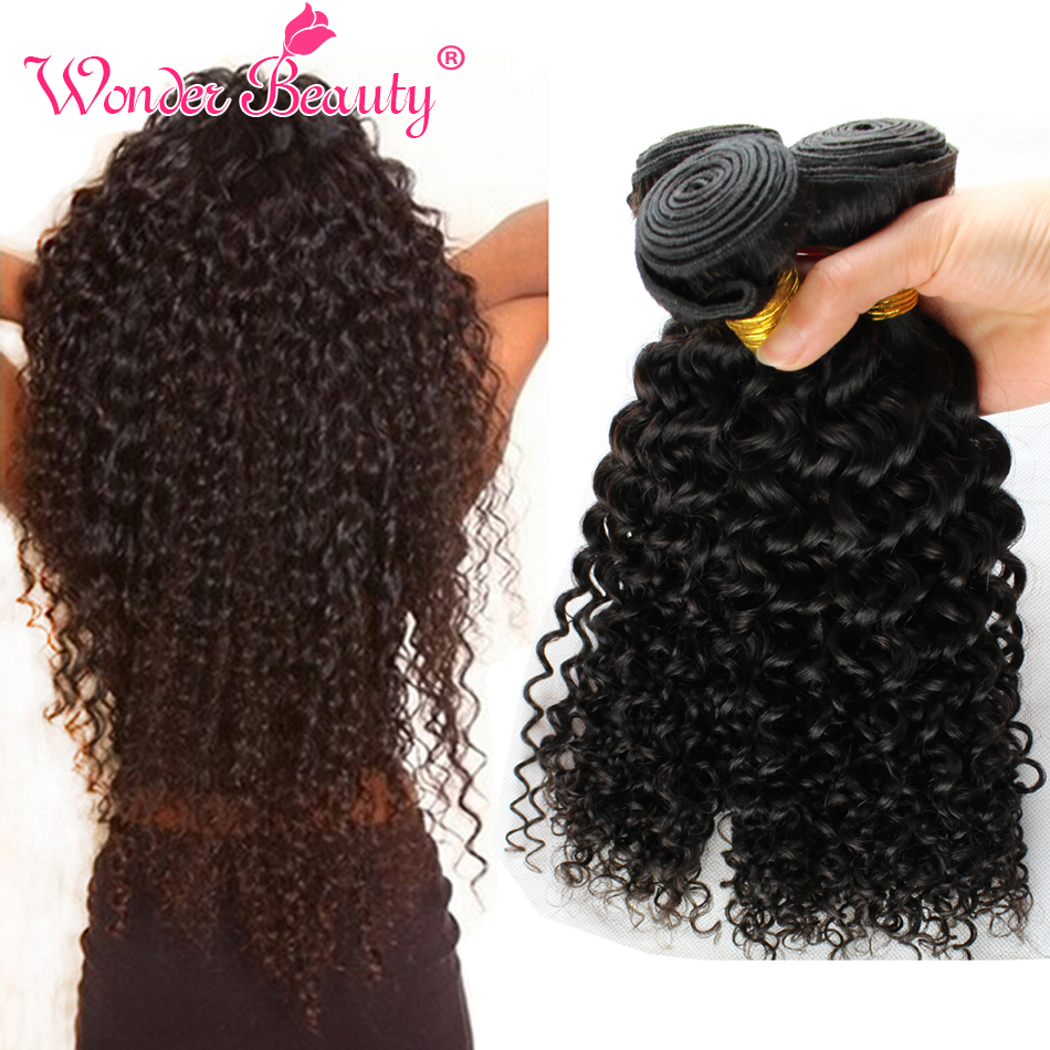 Unprocessed Indian Curly Virgin Hair 3 Bundles Jerry Curly 100% Human Hair Weaving Wet and wavy Curly Crochet Hair Extensions от Aliexpress INT