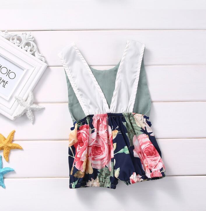 2017 New Baby girl Clothing Summer Sleeveless Jumpsuit Cotton Baby Outfits Clothes Infant Toddle Girls romper