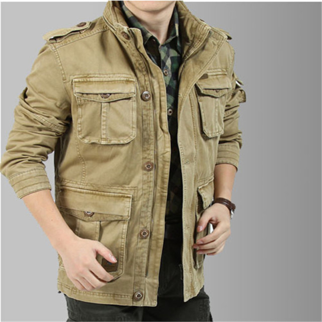 Big Size M 5XL 2017 Winter Jacket Men Casual 100% Cotton Denim ...
