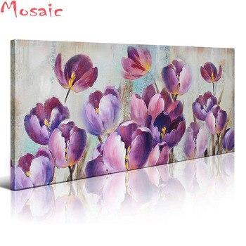 5d Diy Elmas Boyama Lale çiçek Tam Kare Yuvarlak Elmas Nakış çapraz