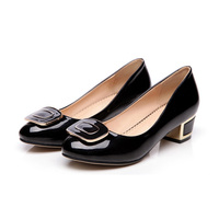 Plus Size 2015 New Women Shallow Mouth Flat Shoes Ladies OL Career Casual Shoes Round Toe