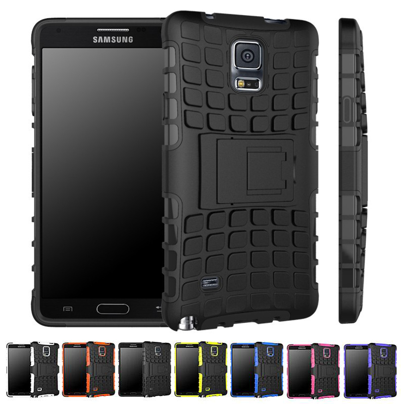 Note 4 Stent Silicon PC Hard Back Cover For Samsung Galaxy Note 3 4 5 Case Unique Grenade Grip Rugged Rubber Grain Non-Slip
