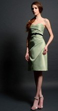 free shipping elegant dress hot 2015 plus size bridal gowns brides gown new vestidos Formal Evening short satin evening