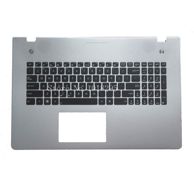 ФОТО English Keyboard for ASUS N76 N76V N76VB N76VJ N76VM N76VZ backlight US laptop keyboad Palmrest Cover