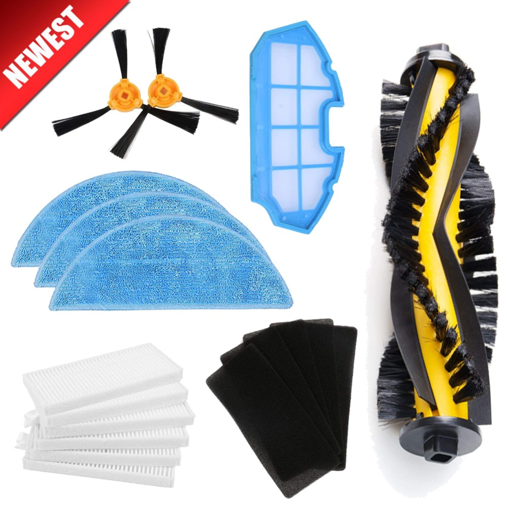 Vacuum Robotic robot Cleaner parts Side brush HEPA filter sponge mop cloth Roll main brush for CONGA EXCELLENCE iboto aqua v710 a325 rubber brush side brush hepa filter and mop for robot vacuum cleaner parts page 6
