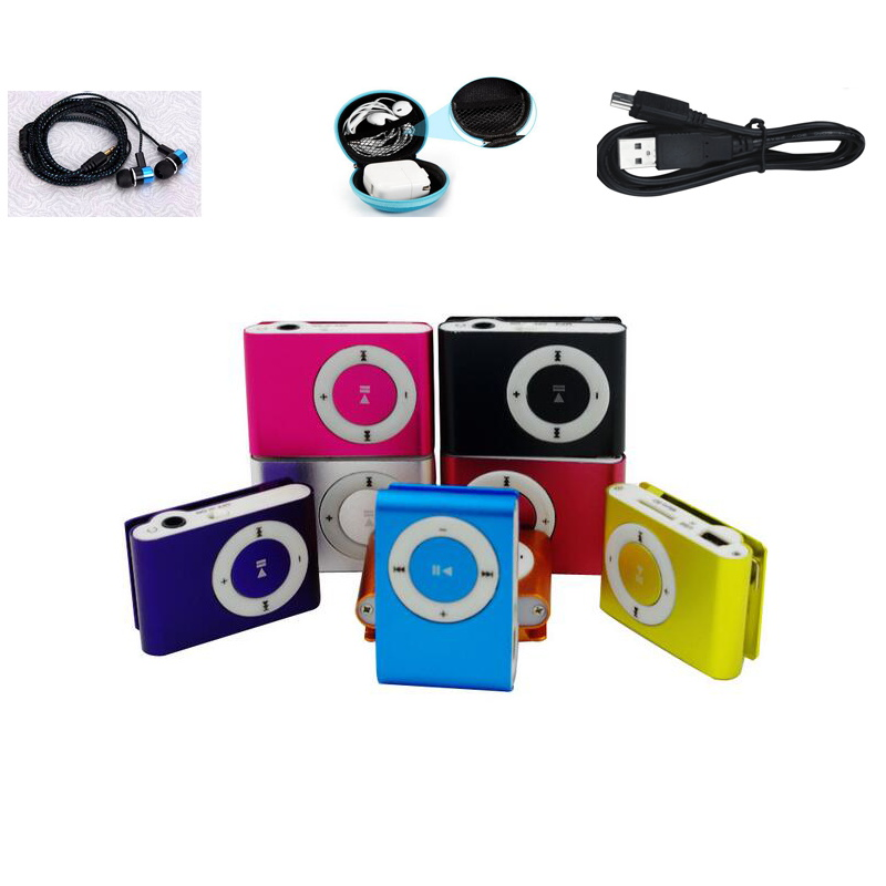 MLLSE New Suit Sports Player Mp3 Music Player With Clip Mp3 Player Micro TF Card Slot USB Port With Earphone Headphone Fashion