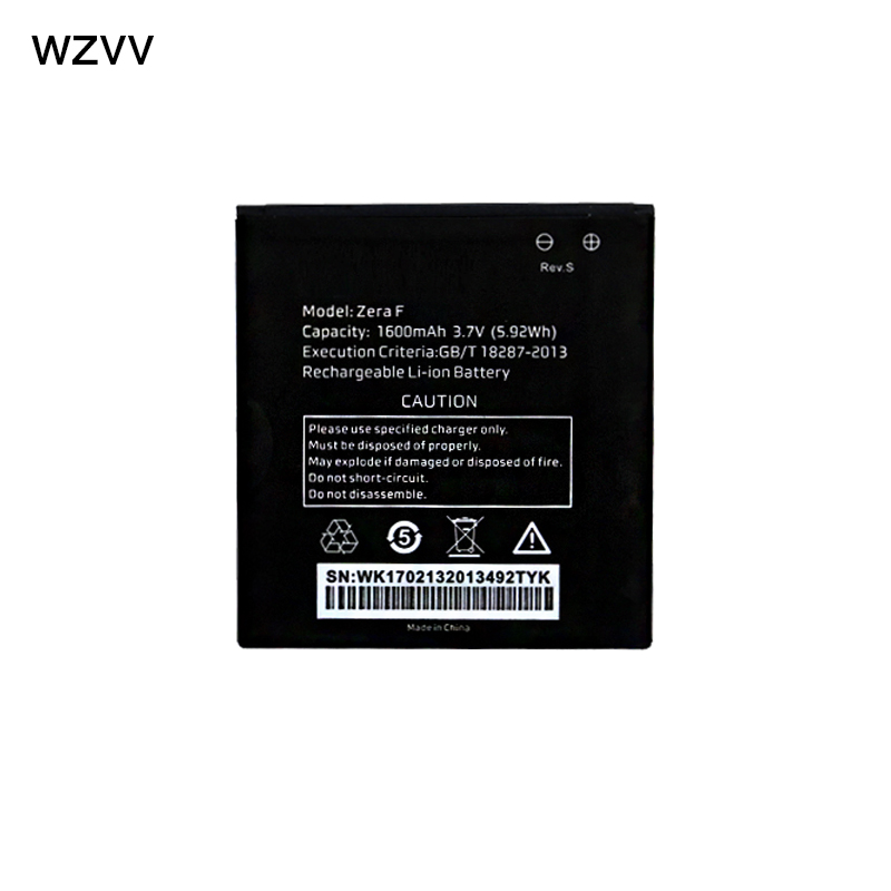 wzvv Original Rechargeable battery 1600mAh battery For Highscreen Zera F (rev.S) (58 x54 mm) mobile phone + Tracking Code
