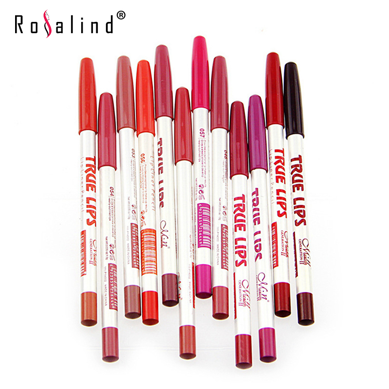 Rosalind New Arrival Long Wearing And Water proof Lips Makeup Cosmetic Professional Lipstick Liner Set Kit
