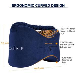 Image 4 - Memory Foam Knee Pillow Leg Cushions Side Sleeper Body Pillows Travel Under Knee Sleeping Gear Sciatica Pain Relief Back Support