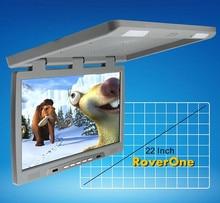 """RoverOne 22 """"pulgadas cc 12V HD pantalla ancha automotriz coche Flip Down TV por arriba TFT Monitor LCD Bus Coach camión montaje en techo reproductor"""