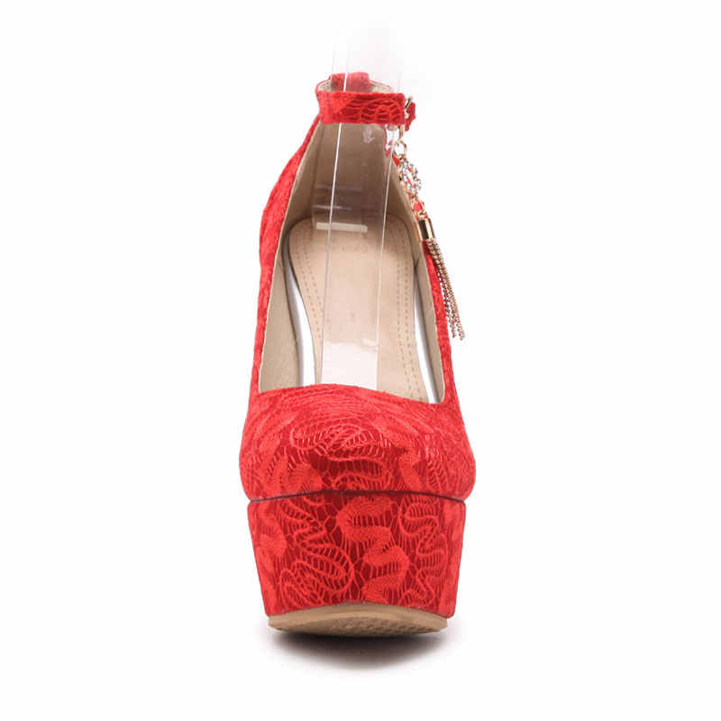 0f9a9d21bb5d4 Fanyuan Best Price Chengdu Ladies Wedding Shoes Mesh Mujer Stylish Footwear  Spring Autumn Ladies Pencil Heels Mary Jane Zapatos