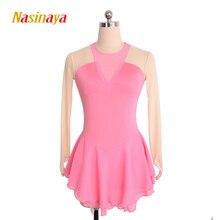 11 farver tilpasset kostume skøjteløb skøjteløb kjole gymnastik voksen barn pige kjol konkurrence langærmet