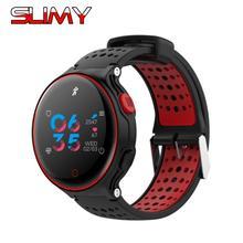 Купить онлайн Слизняк спортивные Mart часы за ультра тонкий круглый Экран IP68 Водонепроницаемый с сердечного ритма крови Давление часы для Для мужчин Для женщин пара
