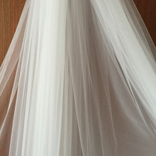 Tulle For Wedding Dress and Bridal Veil in Pure WHite and Light Ivory, 3 meters in Width, SUPER WIDE
