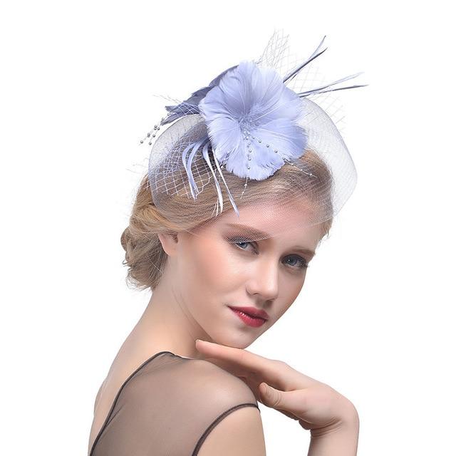 5fa90294915 2018 Bridal Net Feather Hats White Red Black Birdcage Net Wedding Hats  Bridal Fascinator Face Veils