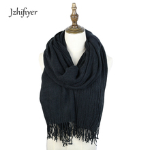 women plain shawls and wraps candy color long stylish plain acrylic womens winter warm neck scarf with tassel 120G цены