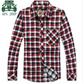 AFS JEEP 2015 Autumn Men's Plaid Shirts,New Design 100% Cotton Overall Overshirt,Single Breast Buttons new design Blouse