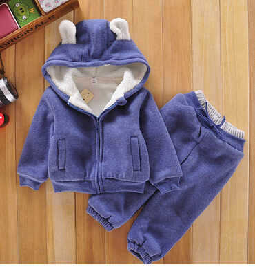 2016 designer children's tracksuits kids sport sweater pants in winter 1~5age 1set retail kid apparel baby  Lamb thicker section