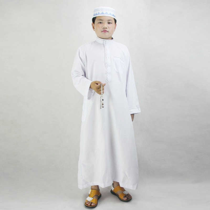 Kids Arab Jubba Thobe Muslim Robes Children Arabic Dubai Saudi Traditional Islamic Dress Clothing Boy Abaya Pakistan Oman Outfit