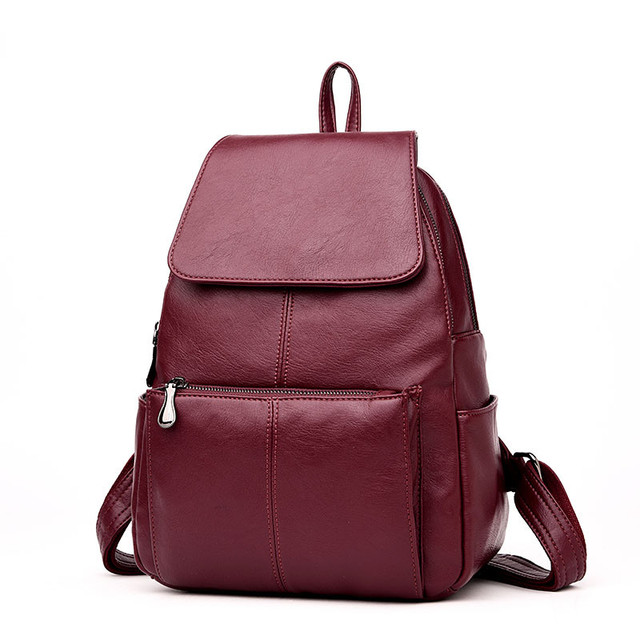 2c8515db78 Anti-theft New Sac A Dos France Brand Design Women Leather Backpack School  Bag Student