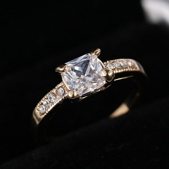 aliexpress female rhinestone wedding rings gold color - Female Wedding Rings