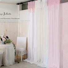Blanco de la gasa/tul cortina de estilo Mediterráneo de la Gasa cortina cortina cenefa cortina investigación de la ventana cortinas decoración de la boda