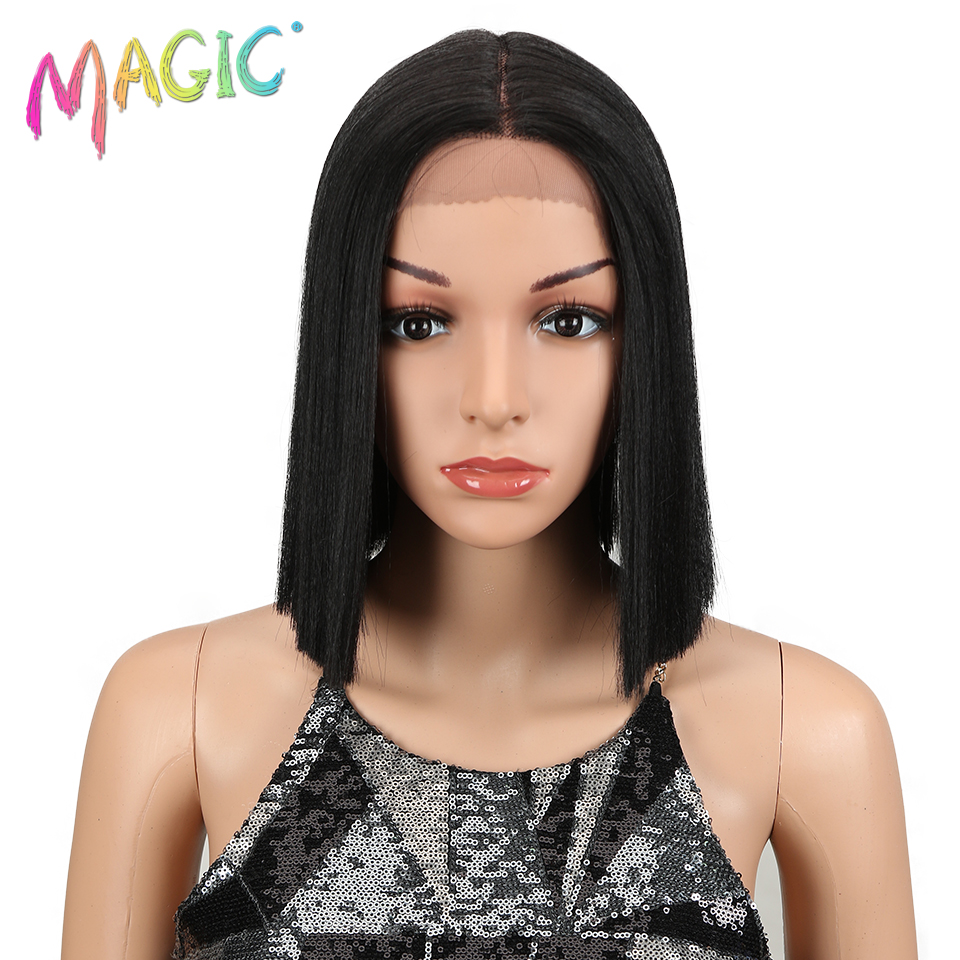 Magic Straight Synthetic Lace Front Wig And T Part 10