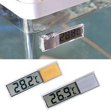 Пластиковый металлический 3D цифровой электронный термометр для аквариума, темп-метр для аквариума, золото, серебро
