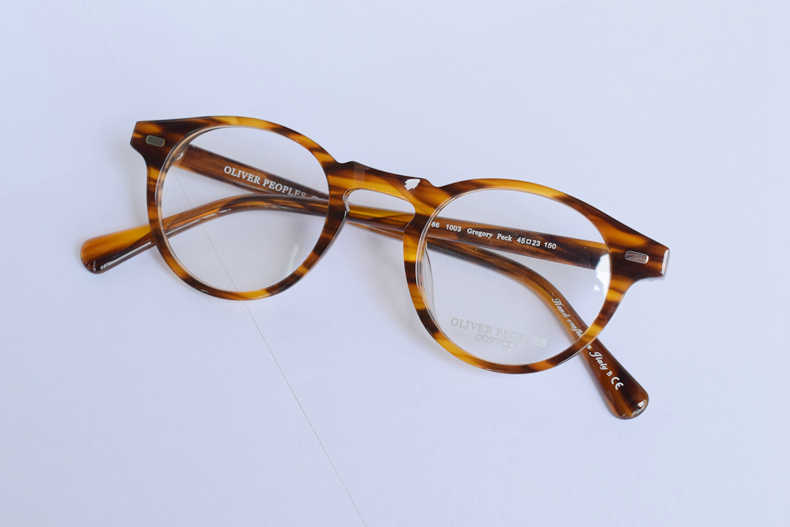 58c33f4551a ... Vintage Optical Glasses Frame Gregory Peck OV 5186 Round Retro  Prescription Eyeglasses For Men and Women ...